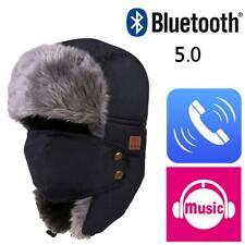 Men Women Winter Ski Mask Hat Russian Trapper Unisex Bluetooth Headset Music Cap