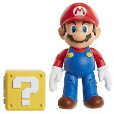 "World of Nintendo Mario with Coin Box Action Figure, 4"""