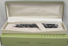 Levenger True Writer Silver Seas & Chrome Ballpoint Pen - New In Box