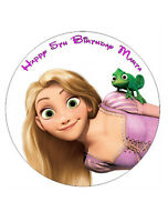 """Rapunzel Personalised Cake Topper 7.5"""" Wafer paper/Icing sheet"""