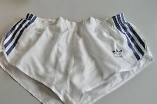 Adidas Sprinter Glanz Shorts Sporthose Racer Gr. M / 5 weiß/blau (rar!)