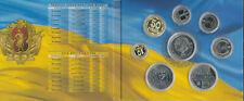 Ukraine - offizieller KMS Satz aus 8 Münzen 2019 UNC / PP