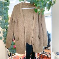 FREE PEOPLE Brown Oversized Fuzzy Cardigan Women's M/L oversized FLAWED fall