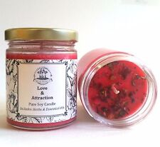 Love & Attraction Soy Spell Candle Romance Relationship Wicca Conjure Pagan Hood