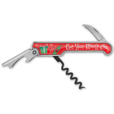 Get Your Merry On Enamel Corkscrew Christmas Artwork Inexpensive Christmas gift