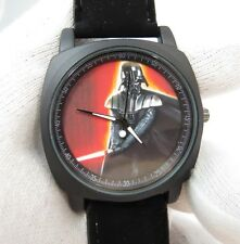 """STAR WARS,""""Darth Vader Engaged"""" Military Dial,Black Suede Band MEN'S WATCH,1966"""