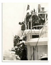Charles Lindbergh Aboard NYC Mayor's Boat Old Photo '27
