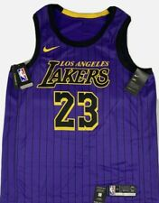 Nike Lebron James City Edición Swingman Los Angeles Lakers Jersey Talla 60