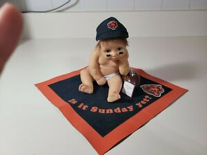 Chicago BEARS COLLECTIBLES BRADFORD EXCHANGE baby ' IS IT SUNDAY YET ?