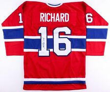 "Henri Richard Signed Montreal Canadiens Jersey Inscribed ""11 Cups"" (JSA COA)"
