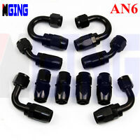 AN6 6-AN Swivel Oil Fuel Line Hose End Fitting Adapter straight 90° 45° 180° Kit