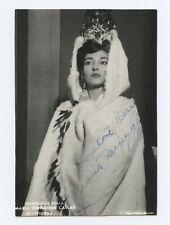 Maria CALLAS (Opera): Signed Photograph in Fedora