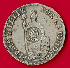 Peru1838 Silver 903 8 Reales Isabella II countermark Spain Philippines KM# 138.2