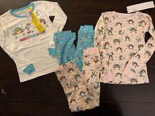 Children's Place Pajamas sz 4T PJ Shirt Pants 4 pc Set Best Day Ever