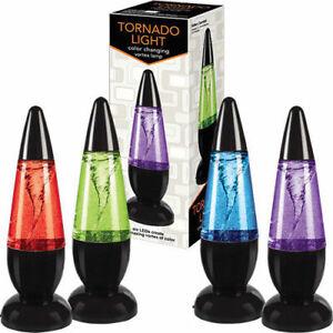 """9.5"""" Playmaker Toys Tornado Light LED Relaxing Mood Night Lamp Novelty Kids Gift"""