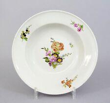 #A60 Royal Copenhagen tiefer Teller,Suppenteller Blumendekor, um 1800
