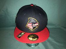 RARE New Era Memphis Redbirds USA Flag 4th Of July Fitted Hat Cap 7 7/8 RARE