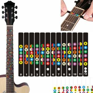 Gitarren Griffbrett Aufkleber Training Gitarrenhals Bass Ukulele Übung Lernen