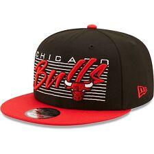 Chicago Bulls New Era Retro 9FIFTY Snapback Hat - Black