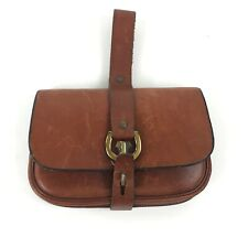 Vintage Etienne Aigner Brown Leather Handmade Wallet Small Coin Purse w Strap