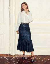 New Boden Sequin Midi Party Skirt Navy, Cocktail Party Cruise RRP £120 Sz UK 18