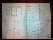 Veloz MICROPLAN piano di un 1918 Messicano BIPLANO DA P Rastrello per ELECTRIC & Radio