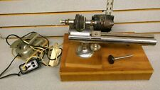 8mm Watchmaker Lathe Mounted on Wooded Box / Machinist Bench Repair Tool