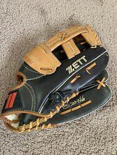 New listing Zett BIG-5101 Black Leather Baseball Glove Mitt RHT Players Series Steer Hide
