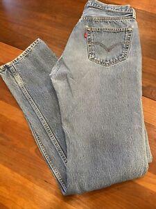 Vintage LEVI'S 501 Button Fly Denim Jeans Mens Size 32x34