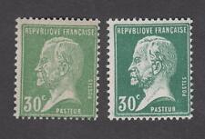 France - Timbres neufs ** - Pasteur - N°174 variété vert clair - TB