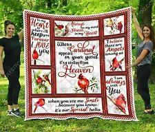 A Cardinal Appears In Your Yard Fleece Blanket 4 zise