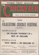 THE CRICKETER CLASSIC WEEKLY CRICKET MAGAZINE ~ 19 AUGUST 1939