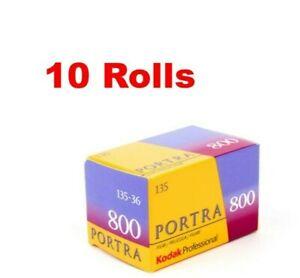 10 Rolls Kodak Portra 800 135-36 ISO 800 Professional Color Negative Film