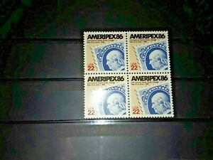 United States of America Stamps.  Ameripex. Block of 4 mnh stamps.  VGC