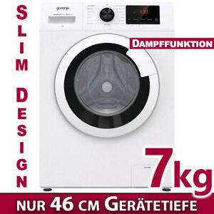 Waschmaschine Frontlader 7kg freistehend Waschautomat Dampf Display 1400 U/min