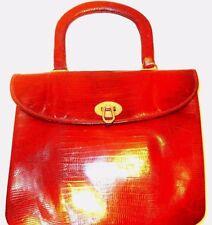 Vintage french Brillant Rouge lizard skin handbag