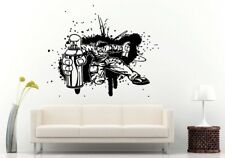 Wall Room Decal Vinyl Sticker Hip Hop Rap Graffiti Guy Man Spray Can Street L636