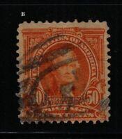 1903 Sc 310 Jefferson used 50c single CV $35  B