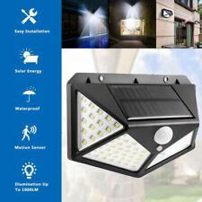 60//100 LED Solarleuchte mit Bewegungsmelder Solar Strahler Aussen Wasserfest DHL