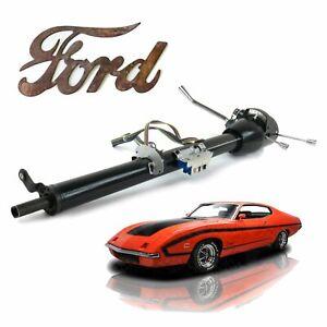 """33"""" Black Keyed 5 Position Tilt Steering Column 68-71 Fits Ford Torino/ Montego"""