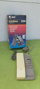 Vintage AT &T cordless landline phone HT 5300 wall desk phone