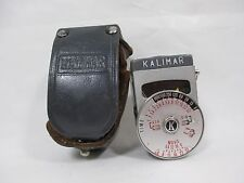 Vintage Kalimar Light Exposure Meter Guide with Case NEEDS Battery Untested