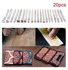SELLA di lavoro in pelle 20Pcs rendendo gli strumenti intaglio Leather Craft Timbri Set Regalo