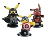 Pikachu cosplay action figures MARVEL Star Wars Naruto Deadpool Avengers Mario