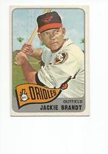 JACKIE BRANDT 1965 Topps card #33 Baltimore Orioles EX/EX+