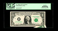 Error 1910-A 1977A $1 Federal Reserve Note PCGS 65PPQ