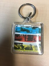 Vintage 1983 The Police Synchronicity Collectible Keychain Square 1 1/2 By 1 1/2
