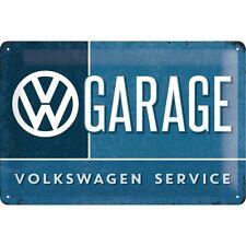 Targa in Latta Vintage  VW Garage 20x30 in metallo stampato