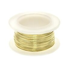 Brass Craft Wire for Beading and Jewellery Making 0.40mm - 16 yards (C109)