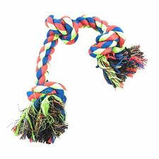 LUXURY LARGE BRIGHT KNOT ROPE PLAY TOY DOG PUPPY CHEW PRESENT GIFT